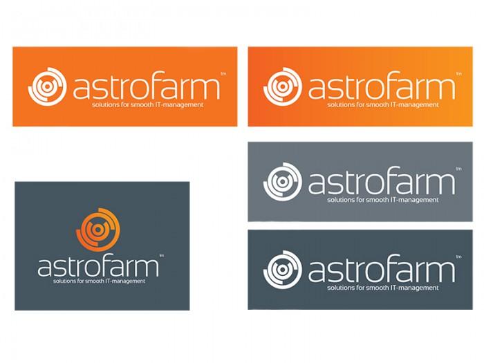 Astrofarm logo med bakgrunner