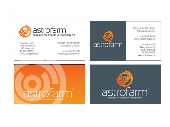 Astrofarm visittkort